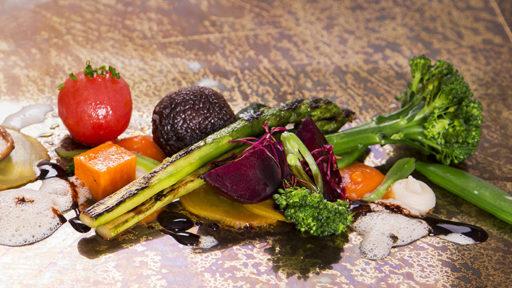 Vegetariska NYC Street food-bufféer